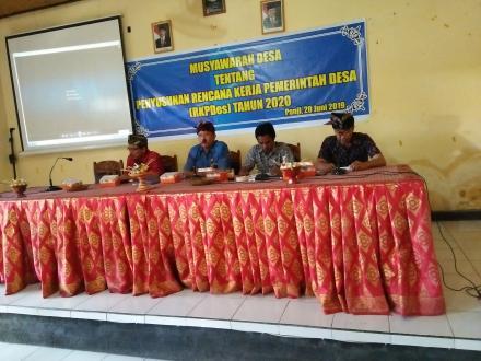 Pemerintah Desa Panji Gelar Musyawarah Desa (MUSDES),Terkait Penyusunan RKPDes Tahun 2020