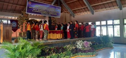 Upacara Pelantikan Ketua TP. PKK dan Pengukuhan Bunda Paud  Desa Se-Kecamatan Banjar, Sukasada, Kubu
